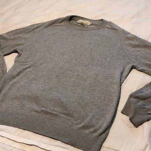 H&M men crew neck grey fall winter essential basic